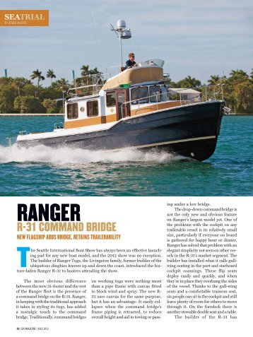 sea trial - Ranger Tugs
