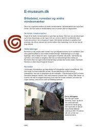 E-museum.dk Billedsted, runesten og andre mindesmærker