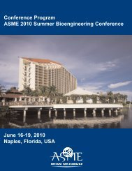 Conference Program ASME 2010 Summer Bioengineering - Events