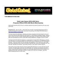 Gold Label Opens KICK-ASS Store, Presents Official KICK-ASS ...