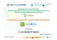 Il sistema di supporto alle decisioni WEB-GIS: Biopole Il ... - Fiper