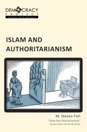 ISLAM AND AUTHORITARIANISM - Democracy Project