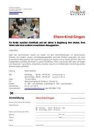 Eltern-Kind-Singen - Gemeinde Wollerau