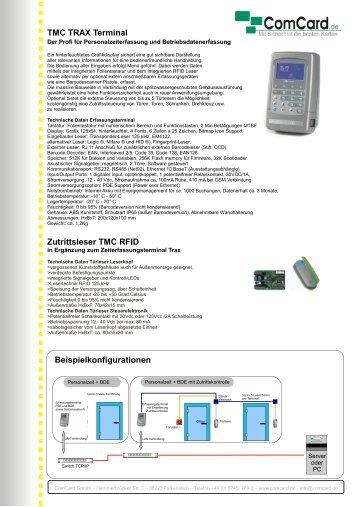 Beispielkonfigurationen TMC TRAX Terminal Zutrittsleser TMC RFID