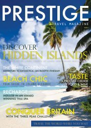HIDDEN ISLANDS - Prestige Travel Magazine