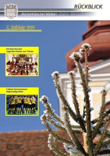 Rückblick 2. Halbjahr 2010 - Gemeinde Allerheiligen bei Wildon