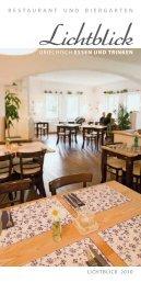 RESTAURANT UND BIERGARTEN - Restaurant Lichtblick Nürnberg