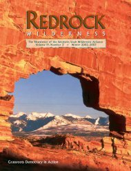 Winter 2002-2003 Newsletter.qxd - Southern Utah Wilderness Alliance