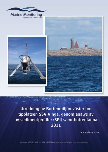 (SPI) samt bottenfauna 2011 - Göteborgs hamn