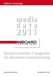 Europe's number 1 magazine for electronics manufacturing