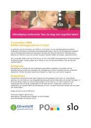 Programma cognitief talent 3 november 2009 def