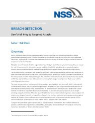 2012 AB Breach Detection Don't Fall Prey - NSS Labs
