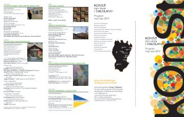 Konst i Dalsland - Sommar 2013