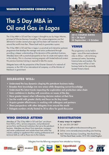 Lagos Brochure - Warren Business Consulting