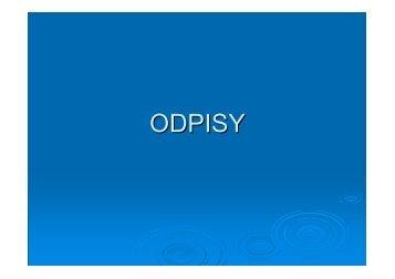 ODPISY