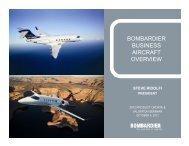 bombardier business aircraft overview - Bombardier Events website