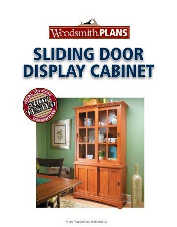 Sliding Door Shop Cabinet Woodsmith Shop