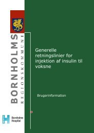 Generelle retninglinier for injektion af insulin til voksne - Bornholms ...