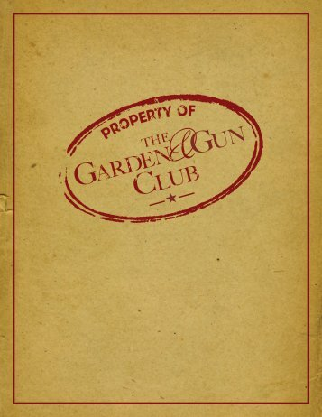 1 IN-BOOK MENTION - Garden and Gun