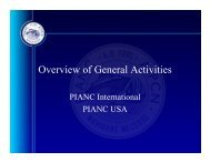Overview of General Activities - PIANC USA