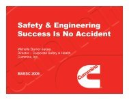 Safety & Engineering Success Is No Accident - Maesc.org
