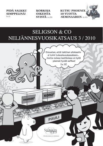 katsauksessamme 3/2010 - Seligson & Co