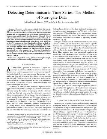 the method of surrogate data - IEEE Xplore