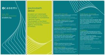 gwybodaeth about - Literature Wales