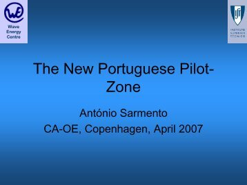 The new demonstration zone Portugal