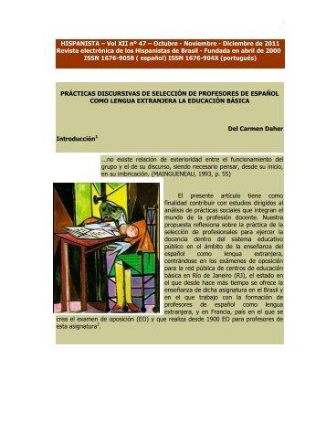 HISPANISTA – Vol XII nº 47 – Octubre - Noviembre - Diciembre de ...
