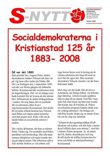 Socialdemokraterna i Kristianstad 125 år 1883- 2008