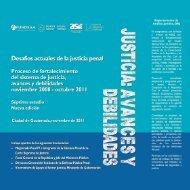 Justicia: Avances y Debilidades (nov2008-oct2011) - Asociación de ...