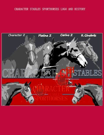 about us - Character Stables