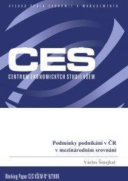 Working Paper CES VÅEM No 9/2006