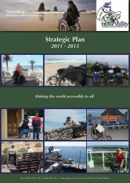 See our strategic plan 2011 - 2015 - Travability