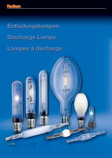 Entladungslampen Discharge Lamps Lampes à ... - lampia AB