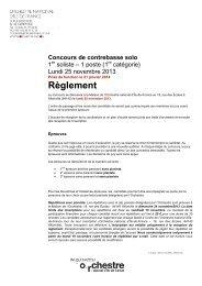 Règlement - Orchestre national d'Ile-de-France