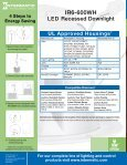 LED Recessed Downlight - LED Lighting - Page 4