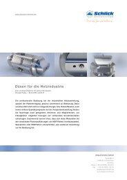 Düsen für die Holzindustrie - Düsen-Schlick GmbH