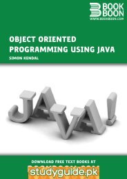 Object Oriented Programming using Java - StudyGuide.PK