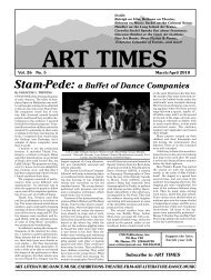 Stam-Pede: a Buffet of Dance Companies - Art Times