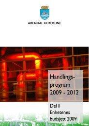 Handlingsprogram 2009-2012, del II - Arendal kommune