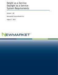 Delphi as a Service System Requirements - Newmarket ...