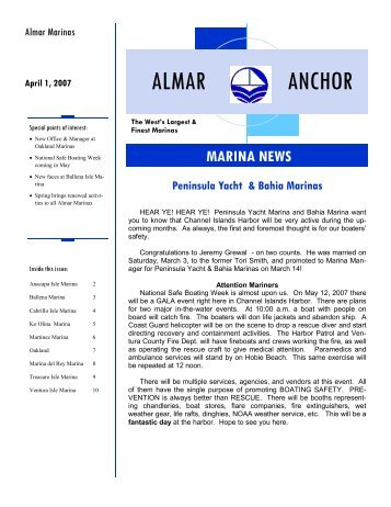 ALMAR ANCHOR 4 07.pub - Almar Marinas