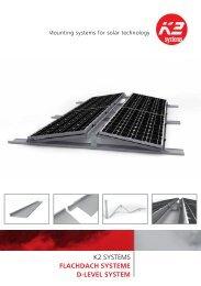 K2 SyStemS FLACHDACH SYSTEME D[LEVEL SYSTEM - Solarkauf