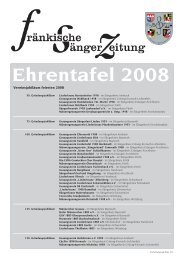 Ehrentafel 2008 - Fränkischer Sängerbund