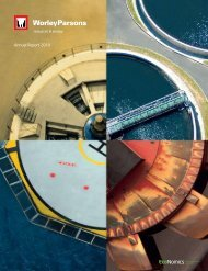 Annual Report 2010 - Annual Report 2012 - WorleyParsons.com