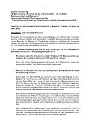 Protokoll Lenkungsgruppe zum Thema Leitbild am 09.04.2013