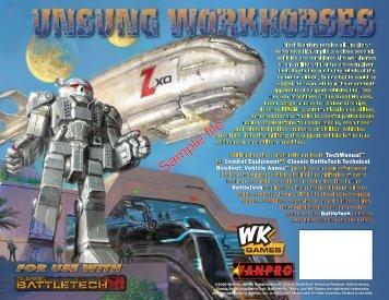 Classic Battletech Technical Readout: Vehicle Annex