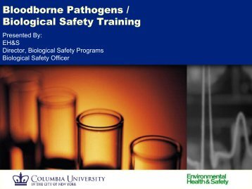 Bloodborne Pathogens / Biological Safety Training - Environmental ...